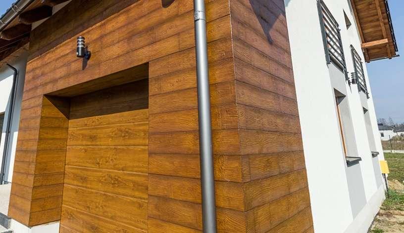 Chłodny Elastyczne Deski Elewacyjne Kompozytowe - Elewacja Drewnopodobna QD56