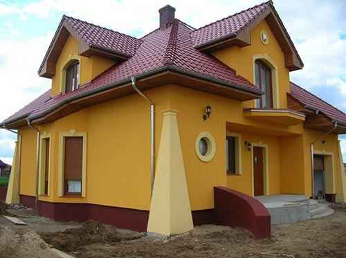 Kolor Elewacji Do Czerwonego Dachu